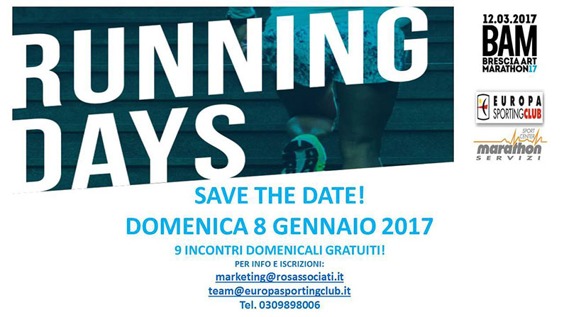 RUNNING DAYS BY Brescia Arth Marathon!